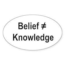 Belief/Knowledge Sticker (Oval)