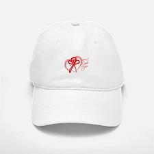 AIDS Support Love Hope Heart Baseball Baseball Cap