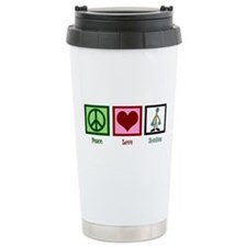 Peace Love Zombies Travel Mug