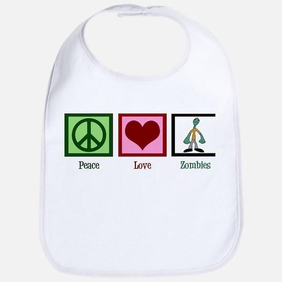 Peace Love Zombies Bib