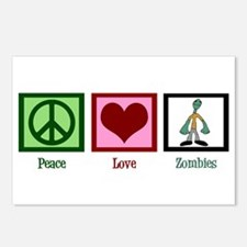 Peace Love Zombies Postcards (Package of 8)