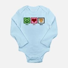Peace Love Tigers Long Sleeve Infant Bodysuit