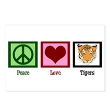 Peace Love Tigers Postcards (Package of 8)