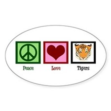 Peace Love Tigers Decal