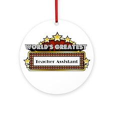 World's Greatest Teacher Assi Ornament (Round)