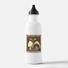 Mushrooms in Brown Water Bottle