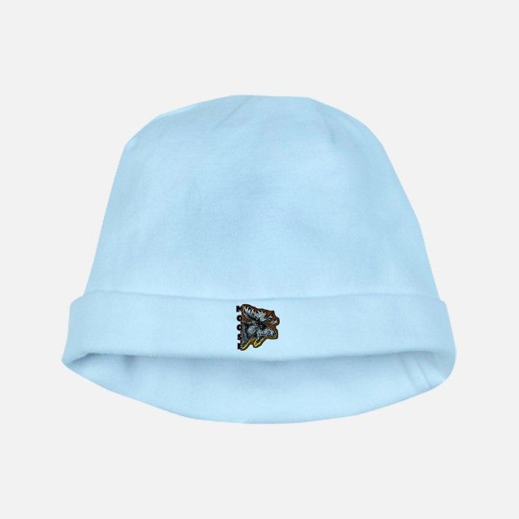 Moose ahead baby hat