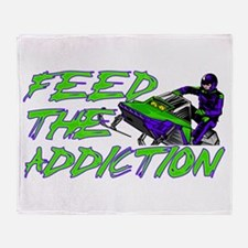 Feed The Addiction Throw Blanket