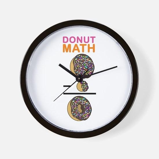 Donut Math Wall Clock