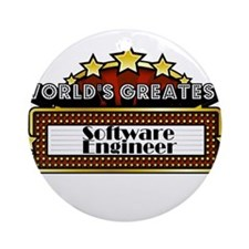 World's Greatest Software Eng Ornament (Round)