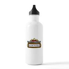 World's Greatest Social Worke Water Bottle
