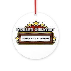 World's Greatest Sr. VP Ornament (Round)