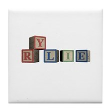 Rylie Alphabet Block Tile Coaster