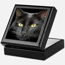 Beautiful Black Cat Keepsake Box