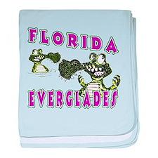 Florida Everglades Alligators baby blanket