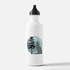Gray Wolf Moon Water Bottle