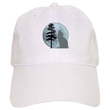 Gray Wolf Moon Baseball Cap