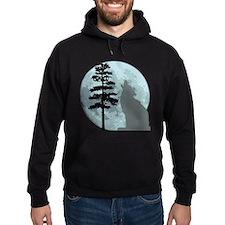 Gray Wolf Moon Hoodie