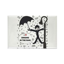 'Singing in the Rain' Rectangle Magnet