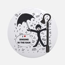 'Singing in the Rain' Ornament (Round)
