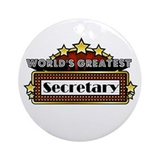 World's Greatest Secretary Ornament (Round)