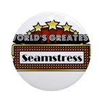 World's Greatest Seamstress Ornament (Round)