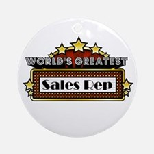 World's Greatest Sales Rep Ornament (Round)