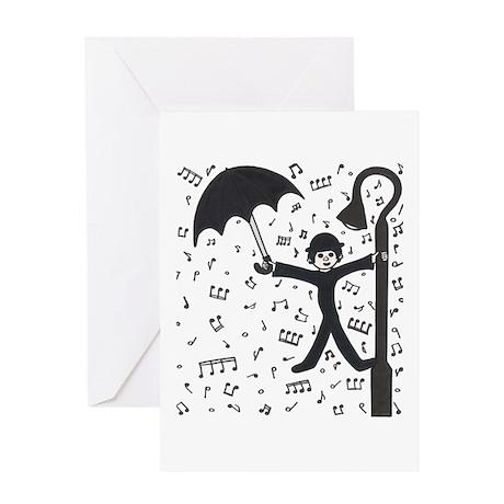 'Singing in the Rain' Greeting Card