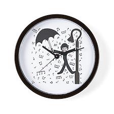 'Singing in the Rain' Wall Clock