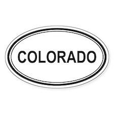 Colorado Euro Oval Decal