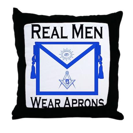Real Men Wear Aprons Throw Pillow