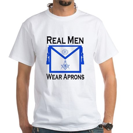 Real Men Wear Aprons White T-Shirt
