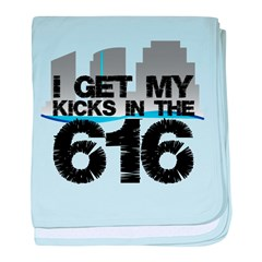 Kicks in the 616 baby blanket