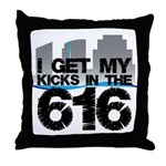 Kicks in the 616 Throw Pillow