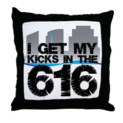 Kicks in the 616 Throw Pillow