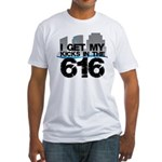 Kicks in the 616 Fitted T-Shirt