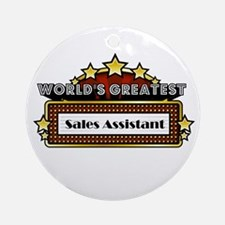World's Greatest Sales Assist Ornament (Round)