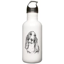 Basset Hound drawing Water Bottle