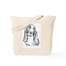 Basset Hound drawing Tote Bag