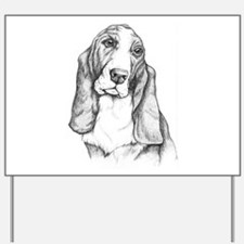 Basset Hound drawing Yard Sign