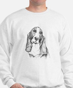 Basset Hound drawing Sweatshirt