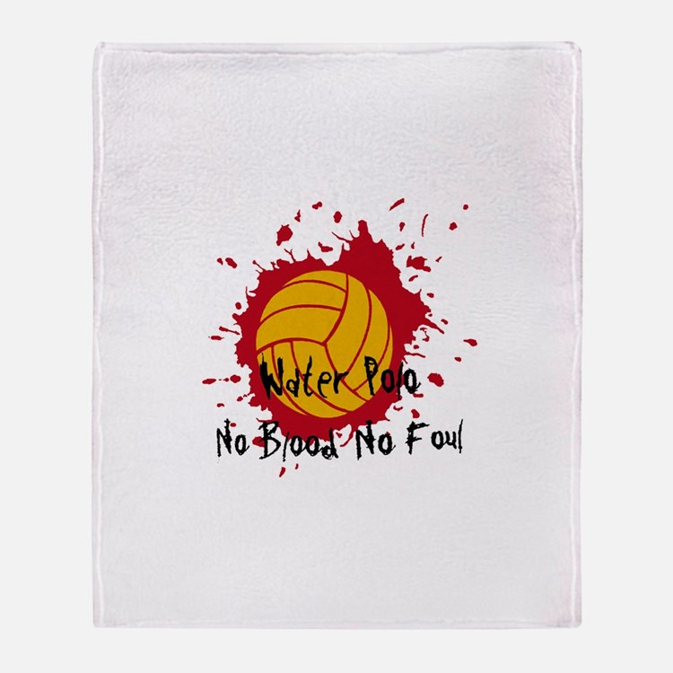 No Blood No Foul Throw Blanket