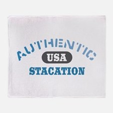 Authentic USA Stacation Throw Blanket