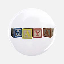 "Maya Alphabet Block 3.5"" Button (100 pack)"