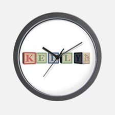Kelly Alphabet Block Wall Clock