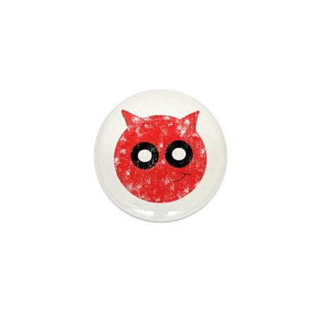 Vintage Devil Smiley Mini Button