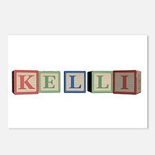 Kelli Alphabet Block Postcards (Package of 8)