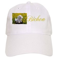 BICHON YELLOW FLOWER FIELD Baseball Baseball Cap