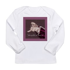 Agility White Poodle Long Sleeve Infant T-Shirt
