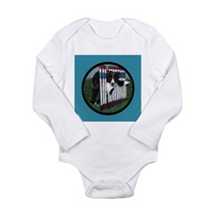 Border Collie Weave Poles Long Sleeve Infant Bodys